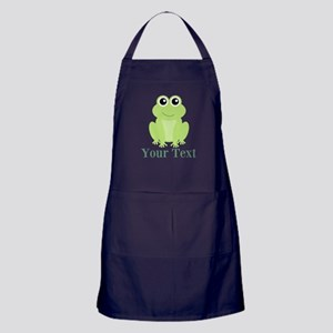 Personalizable Green Frog Apron (dark)